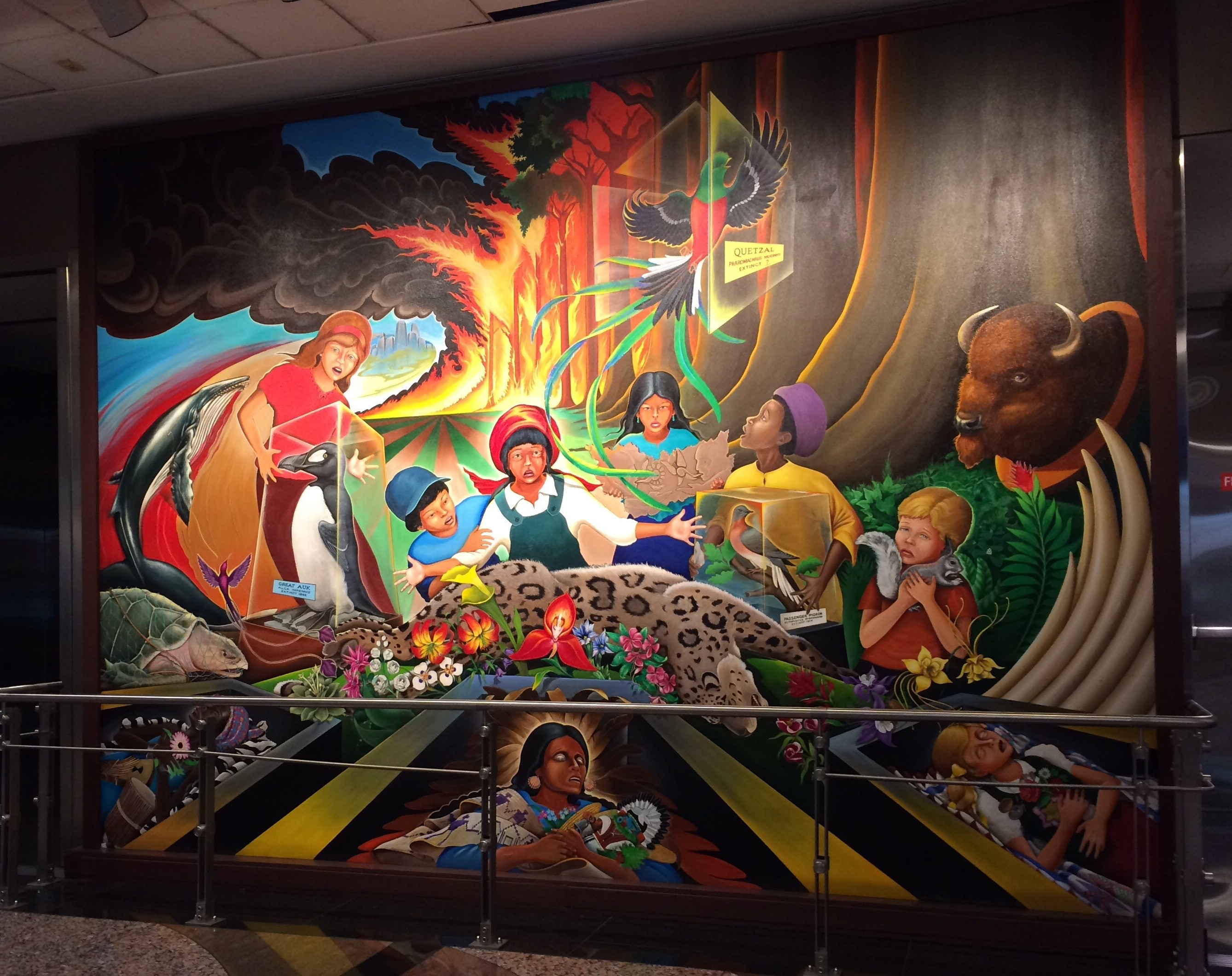 Eerie murals at the denver airport have conspiracy for Mural in denver airport