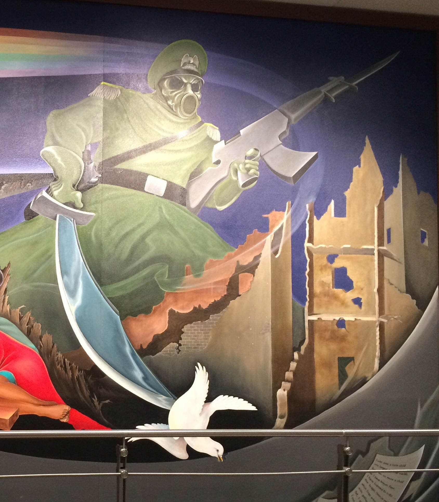 Eerie murals at the denver airport have conspiracy for Denver airport mural conspiracy