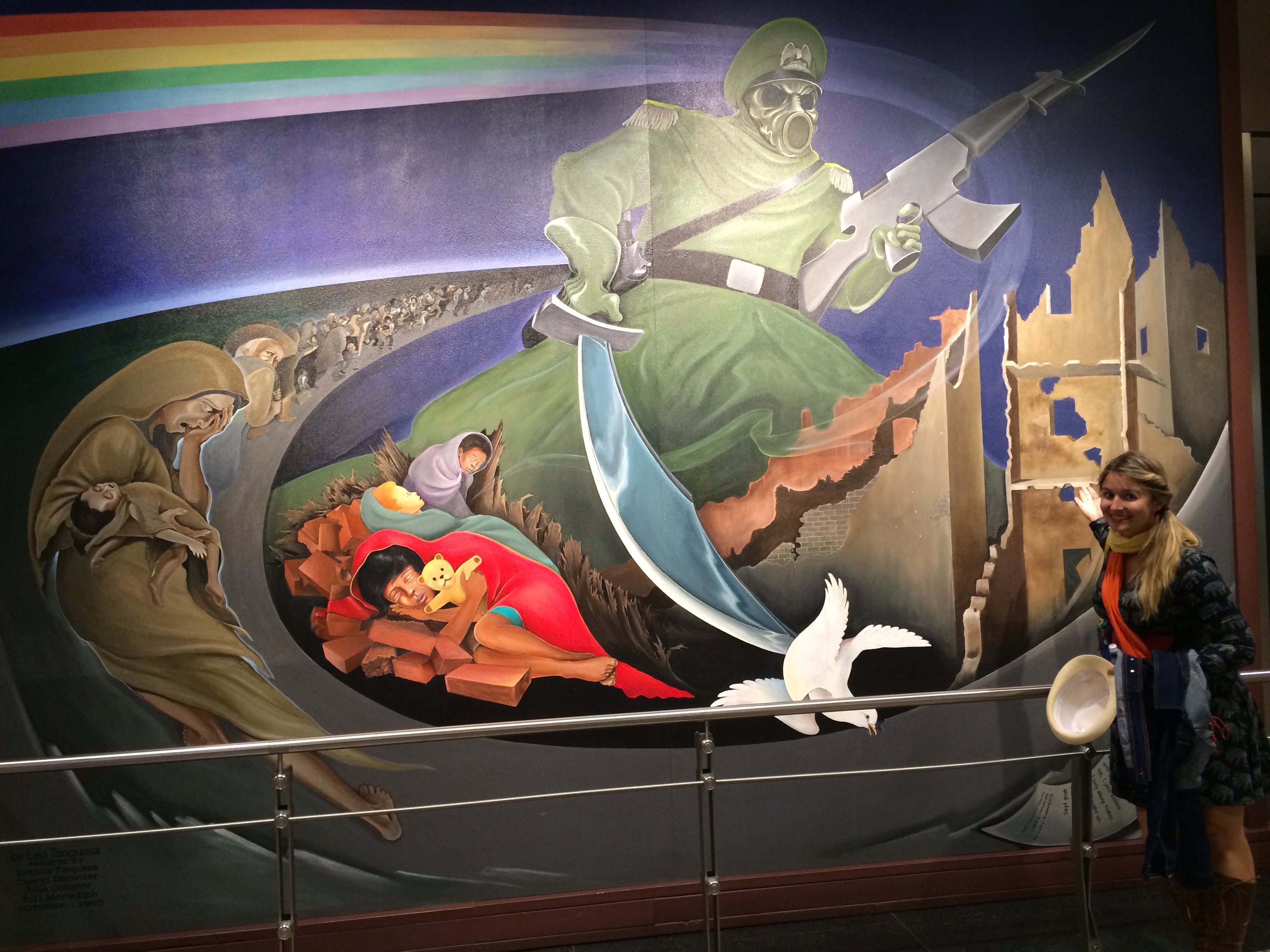 Eerie murals at the denver airport have conspiracy for Denver mural conspiracy
